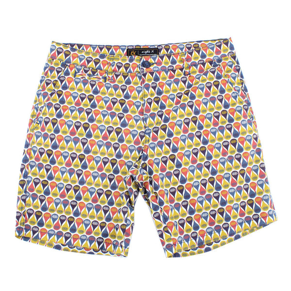 Retro Print Colorful Shorts