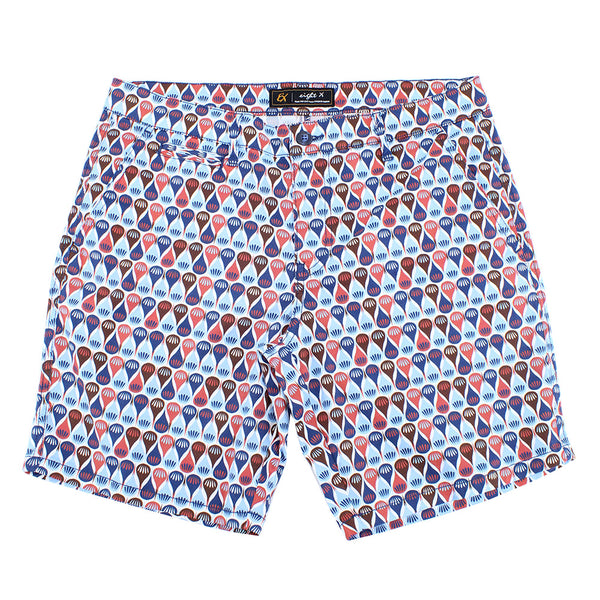 Retro Blue Print Shorts