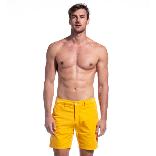 Yellow Ex Frog Shorts