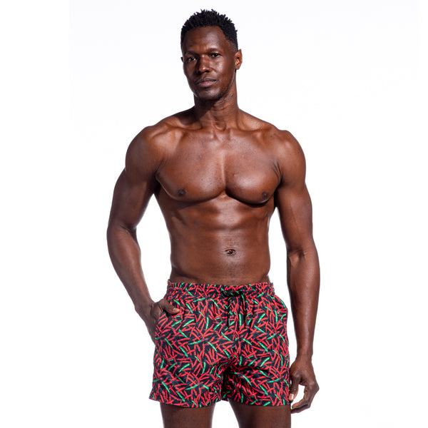 Chili Pepper Print Trunks