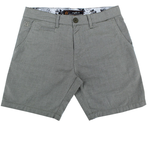 Green Slim Fit Textured Shorts