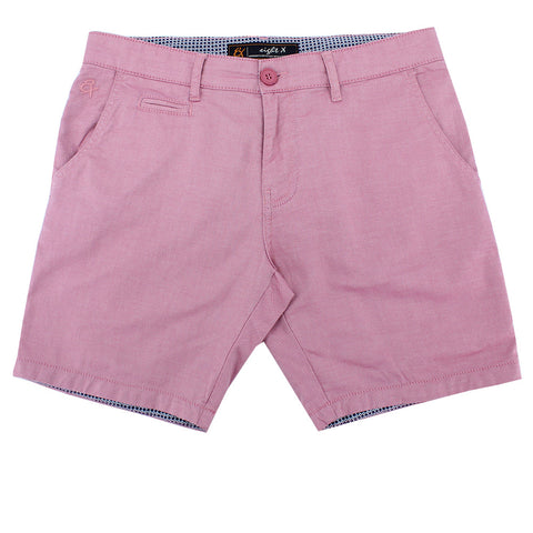 Red Slim Fit Textured Shorts