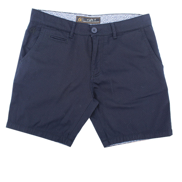 Navy Slim Fit Textured Shorts