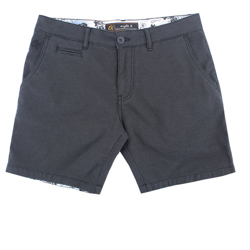 Brown Slim Fit Textured Shorts