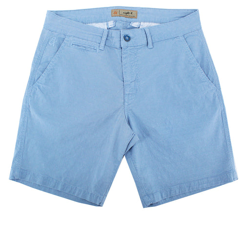 Blue Slim Fit Jaquard Shorts