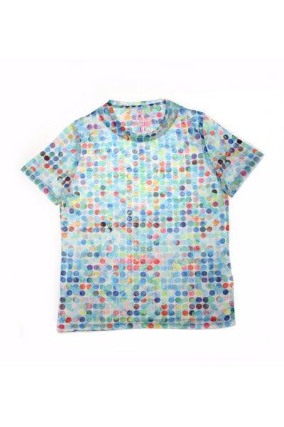 MULTI DOTS PRINT T-SHIRT #T-1181