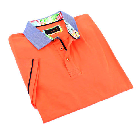 Orange Polo Shirt With Trim #T-6006