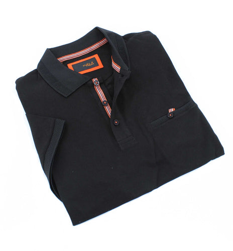 Black Pocket Polo #T-6013