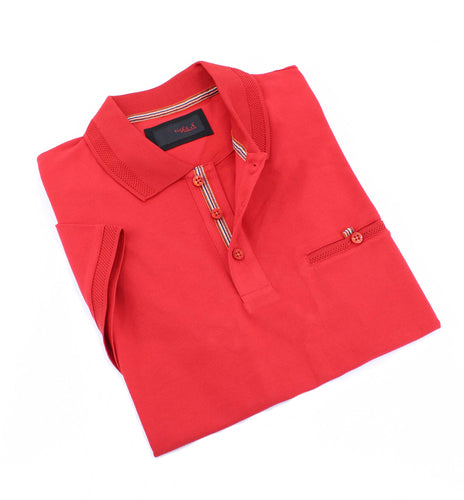 Red Pocket Polo #T-6013