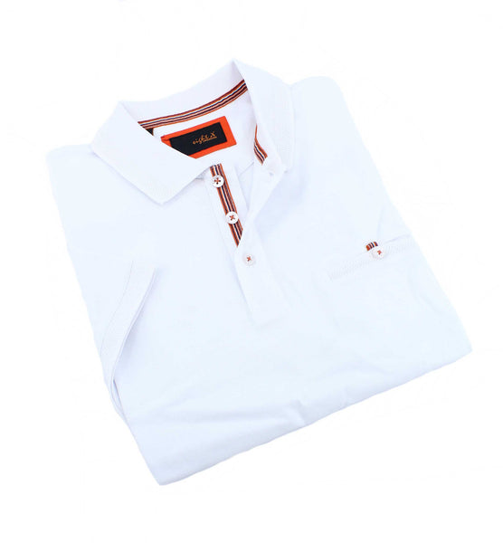 White Pocket Polo #T-6013