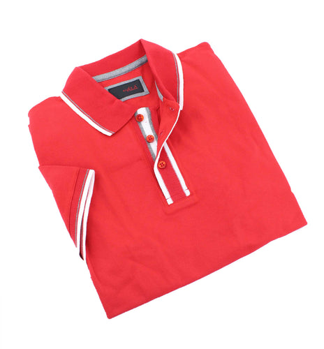 Red Polo With White Trim #T-6014