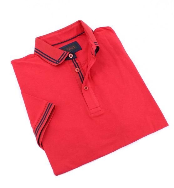Red Polo With Black Trim #T-7006