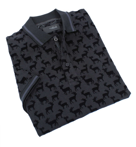 Black Moose Flocking Polo