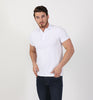 White Flocking Design Polo