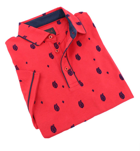 Red Flocking Polo