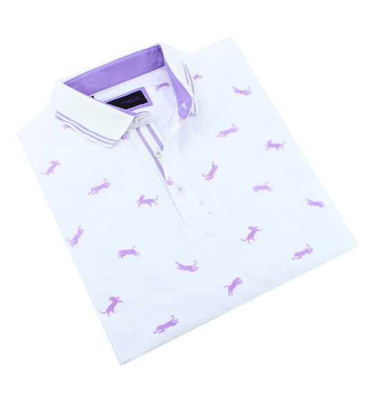 Lilac Panther Flocking Polo