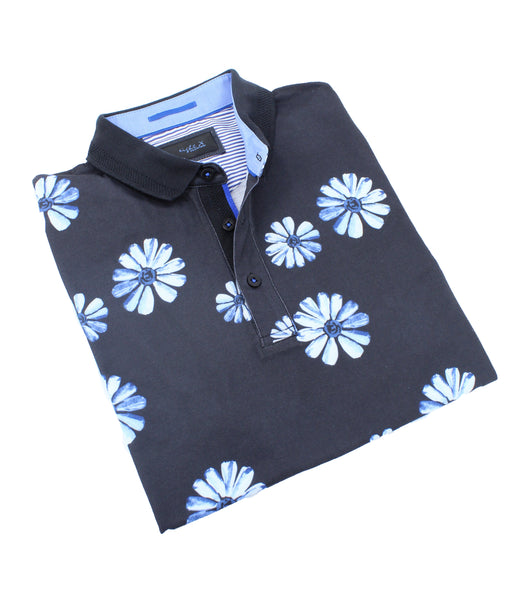 Blue Daisy Polo