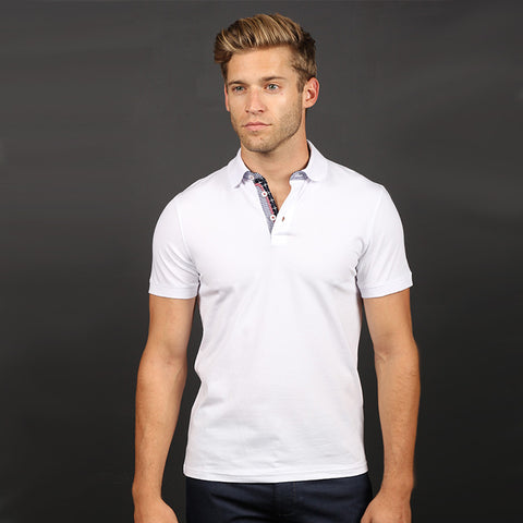 White Polo Shirt #T-6002