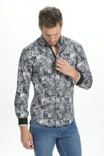 Steel Palm Shirt With Trim #M-10401