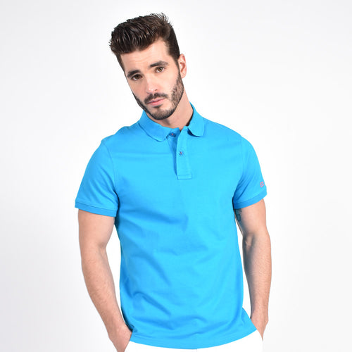 Blue Polo with Blue EX Logo