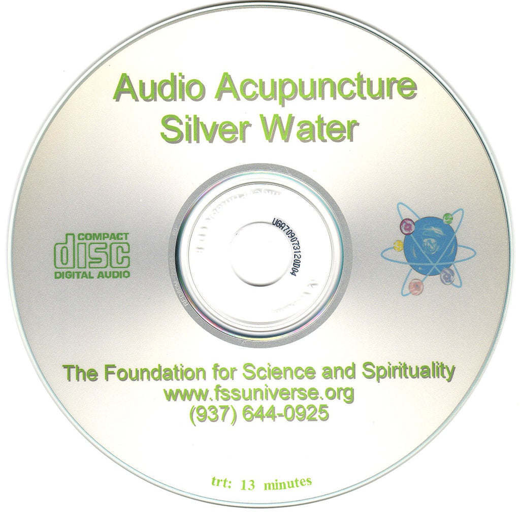 silver water energy audio CD