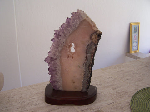 Amethyst, Clear Quartz, and Pink Quartz - On a Stand - 5 lbs