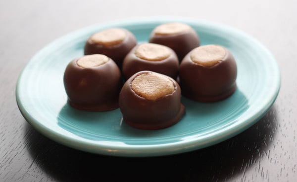 Milk Chocolate Buckeyes - Handmade Chocolate Peanut Butter Crunch Candy