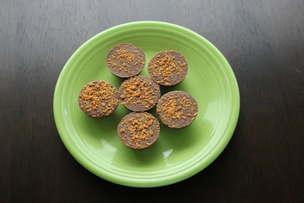 Milk Chocolate Butter Ups - Handmade Peanut Butter Crunch Chocolate Candy