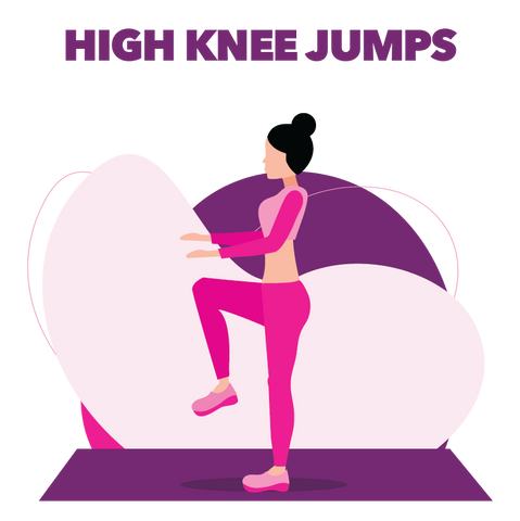 High Knee Jump Exercise