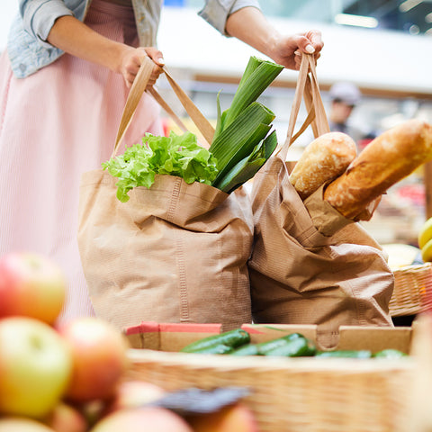 Healthy Groceries In Grocery Store