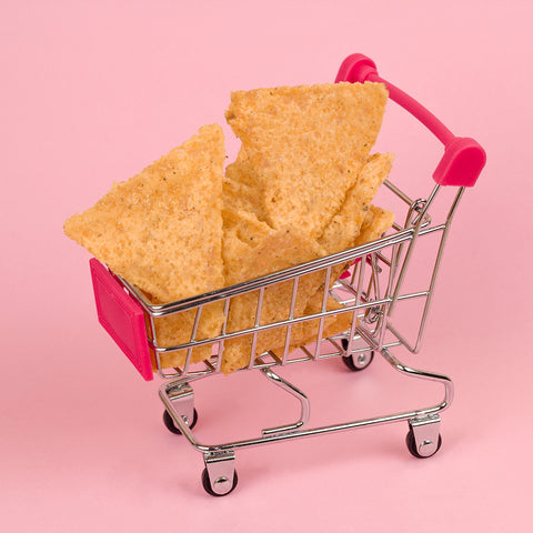 Grocery Shopping Tips - Chips In Mini Cart