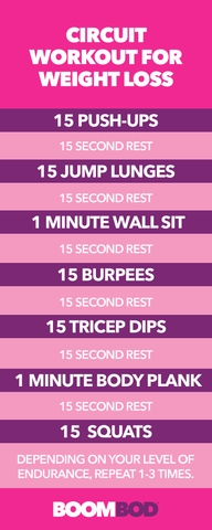 Boombod circuit workout exercise for weight loss