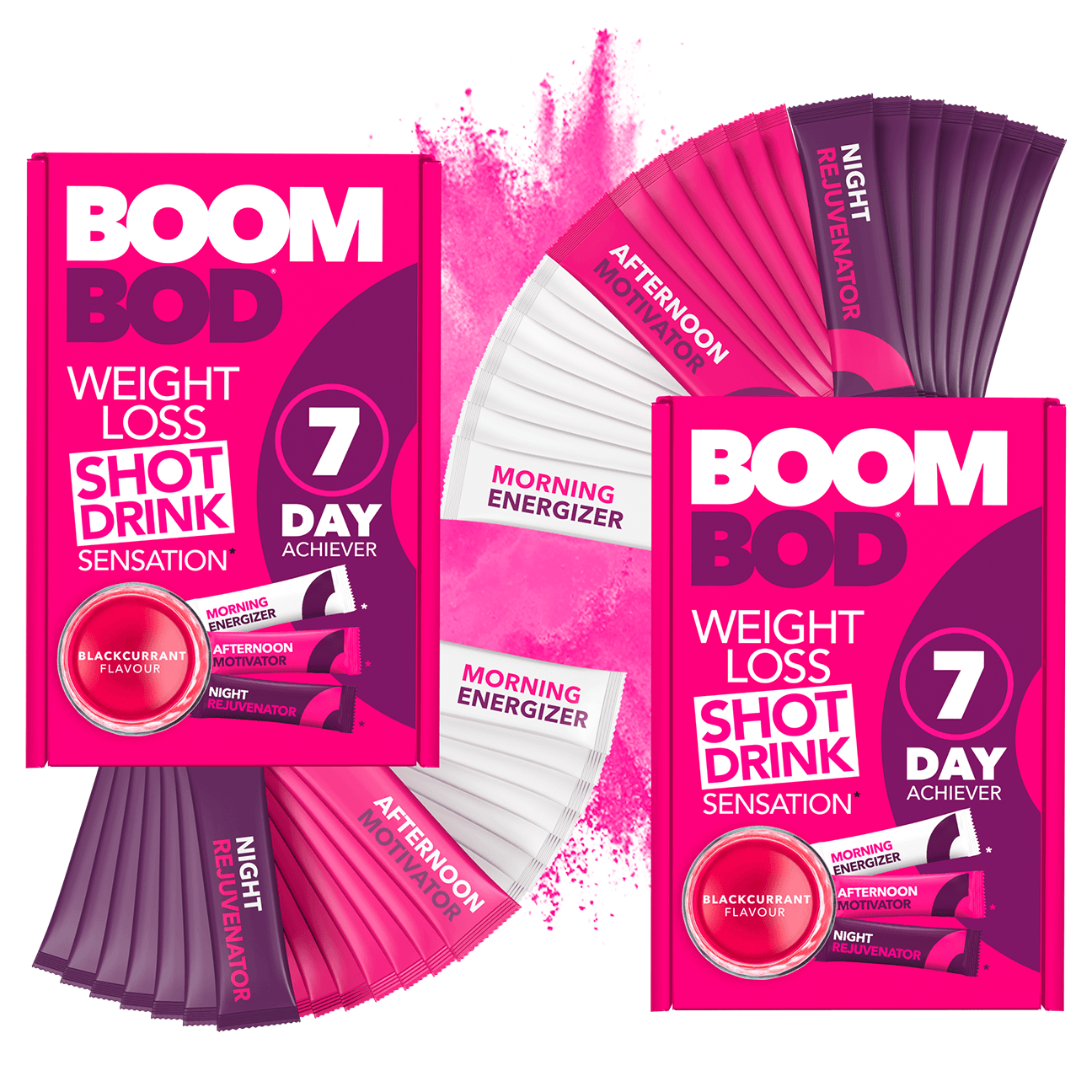 Boombod 14 Day Achiever | Blackcurrant | Weight Loss Shot Drink