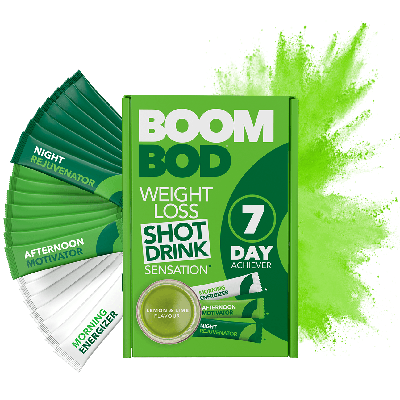 Boombod 7 Day Achiever | Lemon Lime | Weight Loss Shot Drink