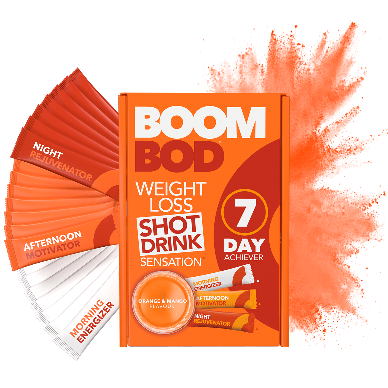 Boombod 7 Day Achiever | Orange Mango | Weight Loss Shot Drink