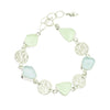 Light Green & Light Blue Sea Glass Bracelet