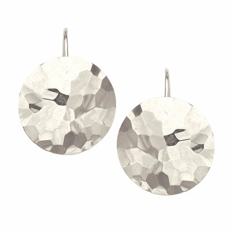 Silver Full Moon Earrings