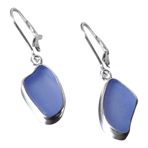 oceano Blue Sea Glass  Earrings