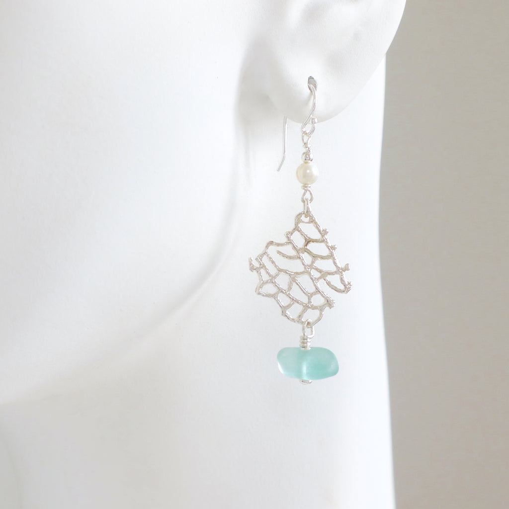 Oceano-Sea-Glass-Aqua-earrings