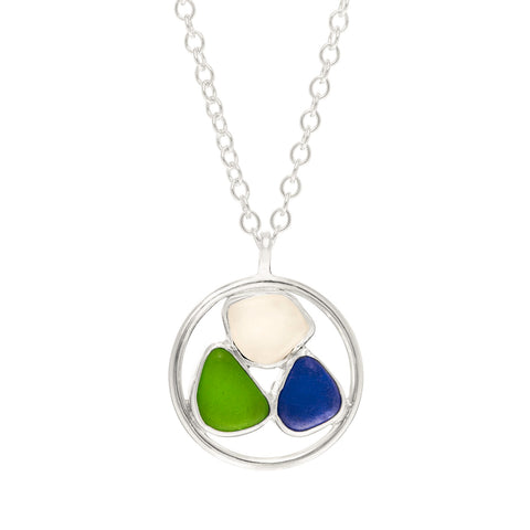 Muti-color Sea Glass Necklace