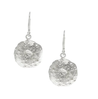 Silver Urchin Shell Earrings