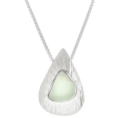 Seafoam Sea Glass Waterfall Pendant