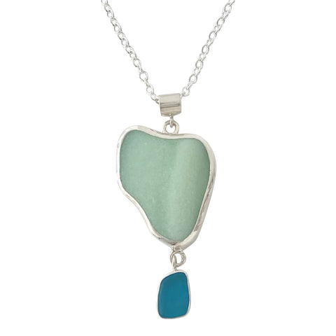 Sea Glass Double Drop Necklace