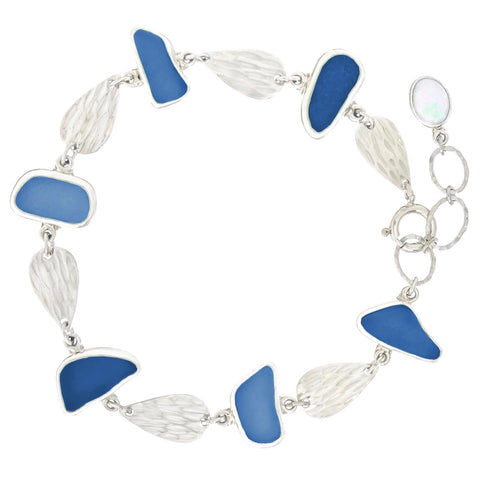 Genuine blue sea glass _oceano-jewelry