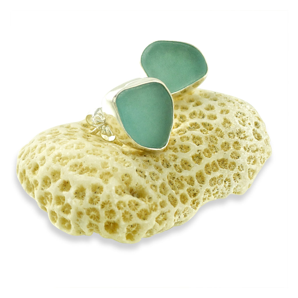 oceano-sea-glass-aqua-post-earrings
