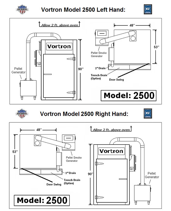 Model 2500 Vortron Smokehouse