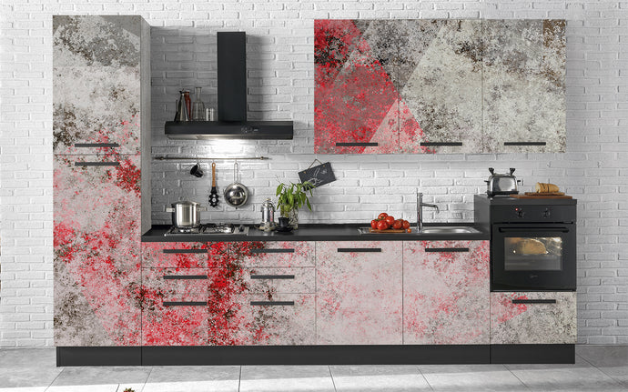 Cucina White Red Grunge - Secretworlds