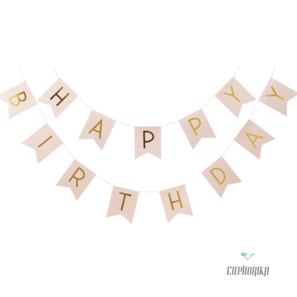 Happy Birthday Banner Bunting Party Supplies