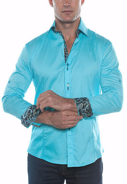 5215-TURQUOISE - IBWEARS.COMMens Fashion, Mens T-Shirts, Men Shirts, Mens Clothing Mens Shorts, Mens Clothing, Mens T-Shirts, Mens Shirts, Mens Jeans - 1