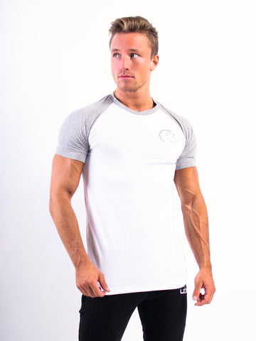 Lionn Split T-shirt White and Heather Grey